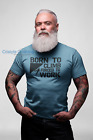 Born to Climb Forced to Work Mens Funny T-Shirt Humour Rock Climbing
