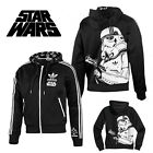 Mens %Adidas Originals Star Wars Black Stormtrooper Coat Hooded Track Top Jacket $42.88 USD