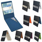 Money Clip Slim Wallets ID Credit Card Holder Mens New Silver Hot Sale Leather