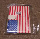 KINDLE 4 LEATHER BOOK CASE USA STARS AND STRIPES NEW