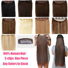 """18"""" One Piece Hair Extensions Clip In Human Hair Extensions Full Head 100g 120g"""