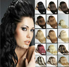 7PCS FULL HEAD SET CLIP IN REMY REAL HUMAN HAIR EXTENSIONS 15COLORS ANY LENGTH
