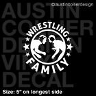 WRESTLING FAMILY Vinyl Decal Car Truck Window Laptop Sticker - Team Olympic