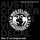 WRESTLING GRANDPARENTS Vinyl Decal Car Truck Window Laptop Sticker - College