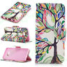 Colorful Painting Flip PU Leather Wallet Phone Case For SamsungGalaxy S8/S8 Plus