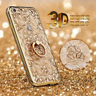 Shockproof Luxury Bling Diamond Frame Stand Holder Cover Case For iPhone 6 6S 7