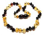 Genuine Baltic Amber Necklace for Baby Child Mixed Beads 11.8 - 13.4 in