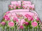 Field of roses and butterfly 4 Piece bedding set   -5 sizes available