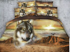 Desert wolf 4 Piece bedding set   -5 sizes available