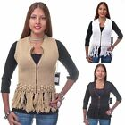 Yoki Collection Crocheted & Zippered Sweater Vest (Multi Colors Available)