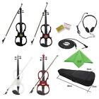 Hot Size 4/4 Electric Violin Ebony Fitted Headphone Cable Case Xmas Gift 4 Color