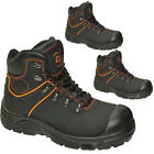 MENS LEATHER SAFETY STEEL TOE CAP WITH STEEL MID-PLATE WORK BOOTS HIKING SHOES