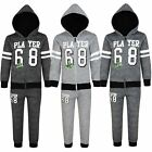 Kids Player Print Tracksuit Hooded Top Jogging Bottoms 2-Piece Set 3-14 Years