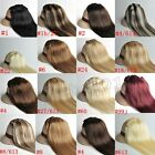 Full Head Set 7pcs clip in/on hair extensions 100% human hair remy hair new top