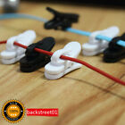 5Pcs Headphone Earphone Cable Wire Cord Lapel Collar Clip Nip Clamp Holder Mount