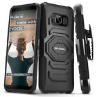 Galaxy S8 Plus Case, Evocel Rugged Holster Dual Layer Case w/ Kickstand & Clip