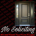 windows script - No Soliciting Sign Vinyl Die Cut Decal Sticker - Script - Door Window BS009