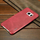 Luxury Retro Vintage Thin Genuine Soft PU Leather Back Case For Samsung Galaxy