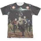 Star Trek Original Series Comic RUNNING Crew 1-Sided Print Poly Cotton T-Shirt