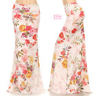 Floral Pink/yellow Sublimation high waist fold over maxi long skirt (S/M/L/XL)