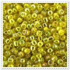 20g - 100g Transparent  Rainbow Yellow Seed beads Size 6/0. 170