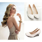 Elegant Womens Lady Low Heel Casual Round Toe Single Shoes Party Shoes 4 Colors