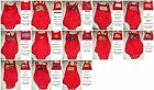 Adult Baby Red Shortalls Rompers - Costume - Discreet Shipping