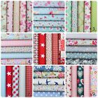 100% Cotton Fabric Bundle Flowers Mixed Various Charm Quilting Craft