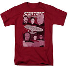 Star Trek Next Generation CAPTAIN AND CREW Illustrated Adult T-Shirt All Sizes