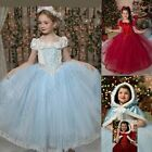Baby Kid Girl Fancy Dress Party Costumes Outfit Dress Clothes+Cape Set 3 4 5