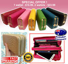Special Offer Fashion Wallet mobile holder SHINE quality double zip