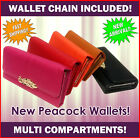 Special offer Fashion Wallet peacock NEW multi pockets chain clip high quality