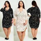 Ladies Women's Plus Size Lace-up Plunge Dress New With Tag 16-26
