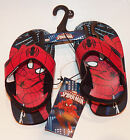 NEW Marvel Spiderman Sandals Flip Flops With Heel Strap TODDLER Size 5/6 OR 9/10