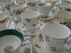 VINTAGE prettiest English bone china TEA CUPS ~make your own MIS-MATCHED set !