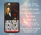 Vegan Quote Abe Lincoln Rubber Case Cover Skin for iPhone 5 5s 5c SE 6 6s 7 Plus