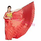 Opened & Closed Professional India Egypt Belly Dance Costumes Isis Wings Colors