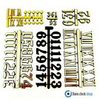 Self Adhesive Black Silver Gold Plastic Clock Numbers Roman Numerals Dots Dashes