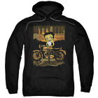 Betty Boop REBEL RIDER Fishnet Stockings Motorcyle Licensed Sweatshirt Hoodie $68.05 USD on eBay