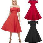 Cheap Women Retro Style 50s 60s Housewife Swing Pinup TEA Cocktail Party Dress