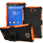 Stand Rugged Shockproof Defender Hybrid Rubber Case Cover For Sony Xperia Phones
