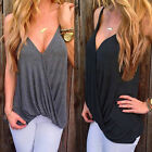 2017 New Womens Summer Casual Vest Top Sleeveless Blouse Casual Tank T-Shirt