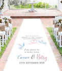 Personalised WEDDING AISLE RUNNER. Church Wedding Carpet Decoration. 20ft - 30ft
