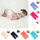 2pcs Baby Newborn Girl Bow Hairband Lace Pants Photo Prop Costume Outfit