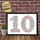 10th Wedding Anniversary Personalised Present Print wordart greeting poster gift