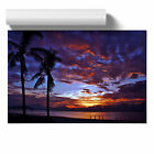 Poster Print Wall Art Purple Beach Sunset 2 Landscape Modern Scenic Nature Décor