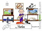 PERSONALIZED CUSTOM CARTOON PRINT - CAT LOVER - GREAT GIFT IDEA! FREE S/H