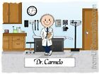 PERSONALIZED CUSTOM CARTOON PRINT - DOCTOR - GREAT GIFT IDEA! FREE S/H