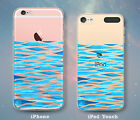 Sea Waves Shapes Fun Ocean Case for iPhone 7 7 Plus 6s 6 SE 5s 5 5c iPod 6th 5th