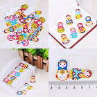 New Fashion Bulk Craft Girls Sewing Wooden Buttons Scrapbooking 2 Holes Gift